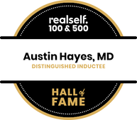 Picture of Dr. Hayes' RealSelf Hall of Fame Award.